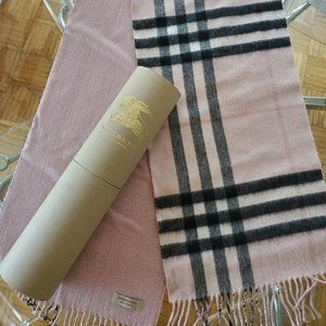 LIMITED EDITION Burberry Cashmere Scarf 2 faces